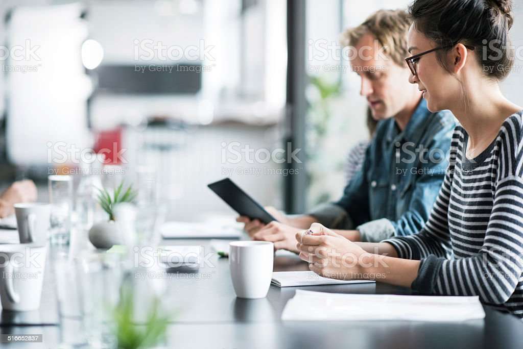 Collaboration - The key to success stock photo