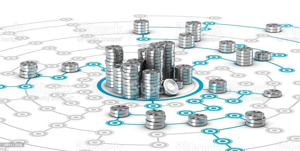 Collaborative Finance, Crowdfunding stock photo