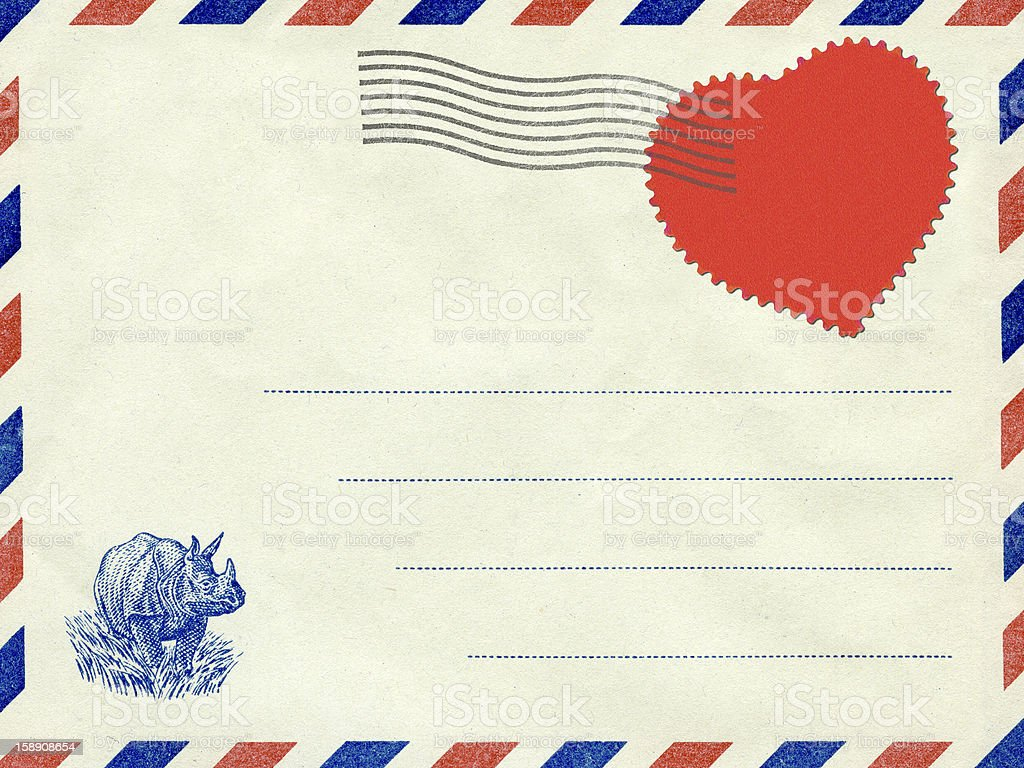 Collage, a love letter. Vintage postcard. royalty-free stock photo