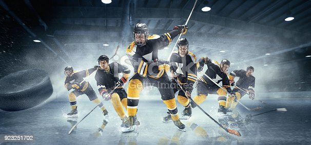 istock Collage about ice hockey players in action 923251702