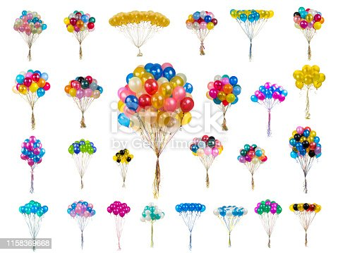 istock collage color balloons on a white 1158369668