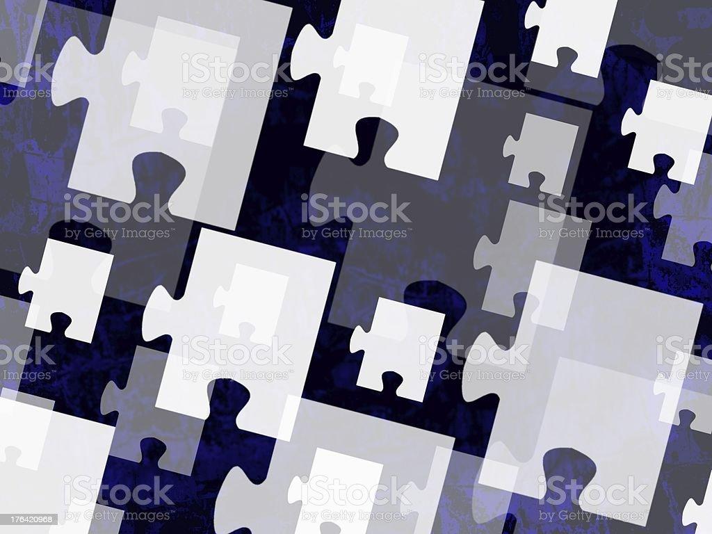 Collage mit Puzzleteilen stock photo