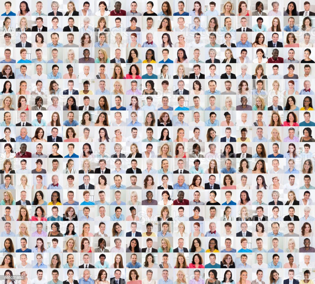 Collage Of A Smiling People royalty-free stock photo