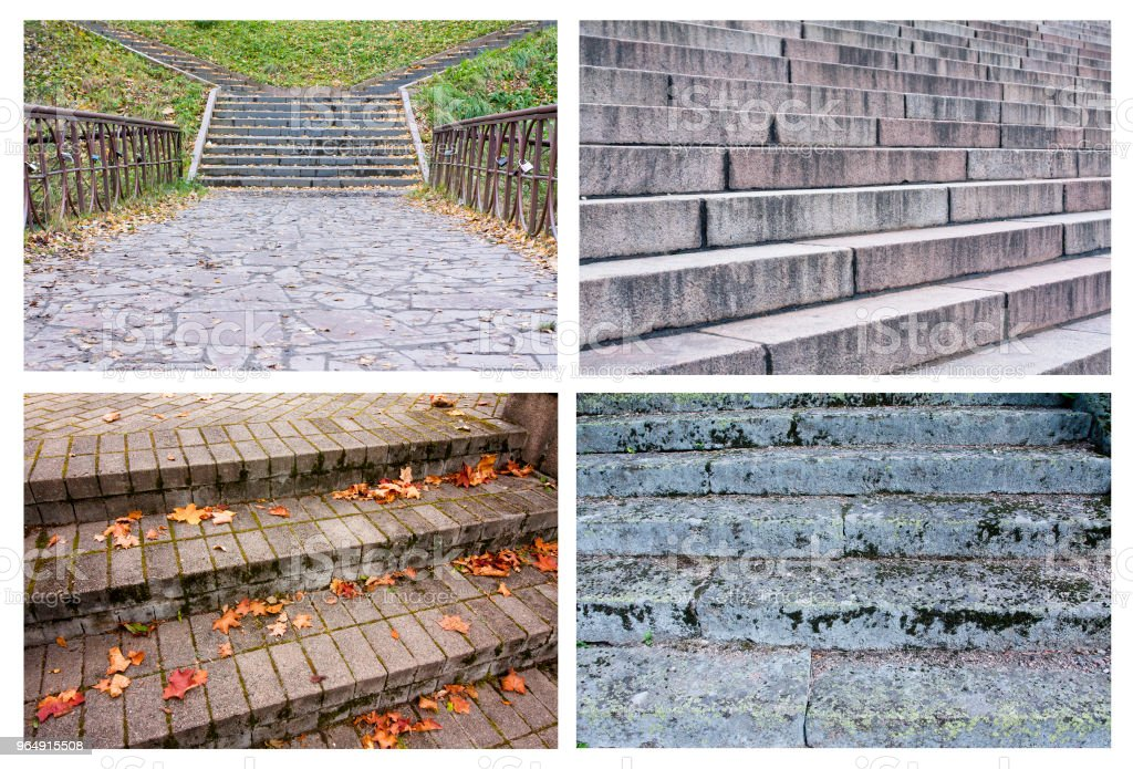 Collage of beautiful texture of stairs royalty-free stock photo
