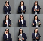 istock Collage of business woman emotions 868515292