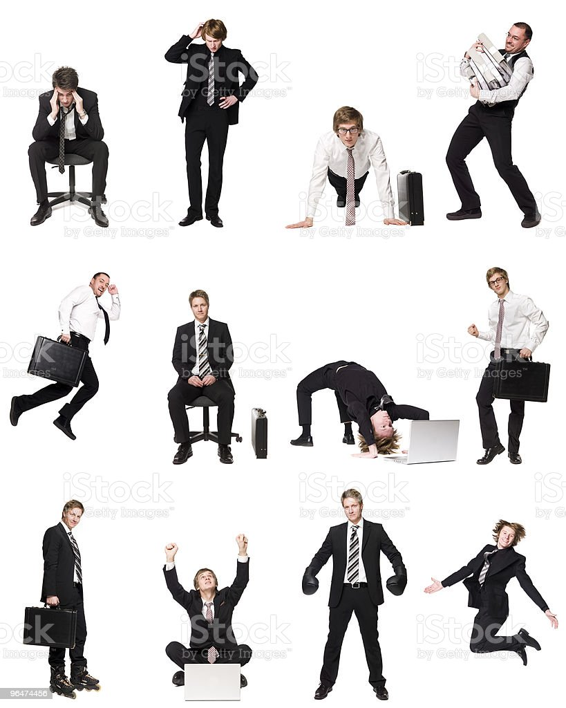 Collage of businessmen royalty-free stock photo