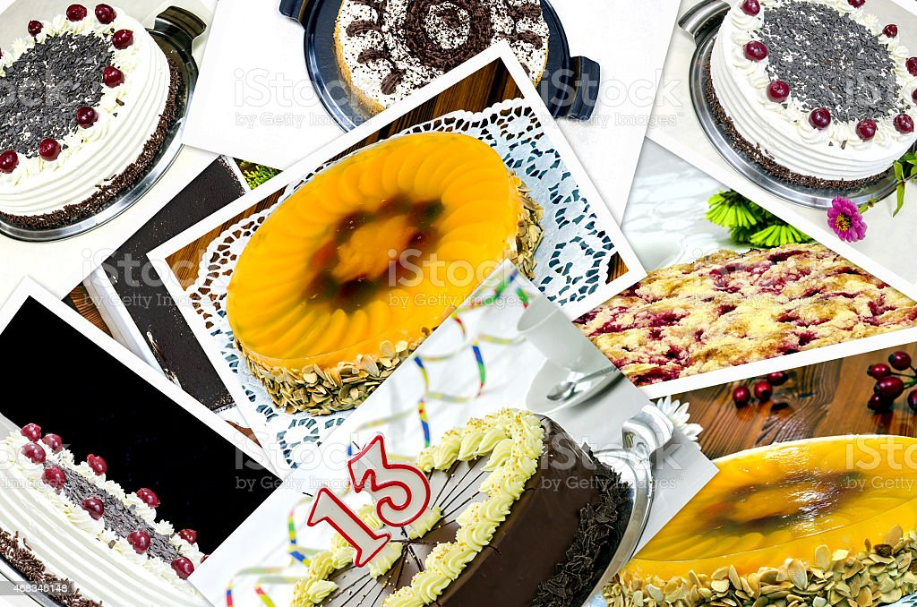 Collage of cakes royalty-free stock photo