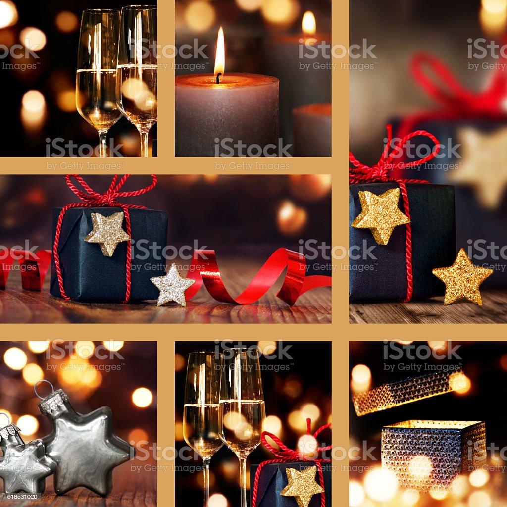 Foto Collage Di Natale.Collage Di Decorazioni Di Natale Tabella Fotografie Stock E Altre Immagini Di A Forma Di Stella Istock