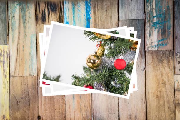 collage von eco freundliche christbaumschmuck - foto collage geschenk stock-fotos und bilder