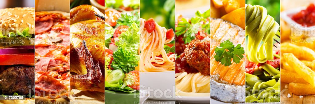 collage of food products stock photo
