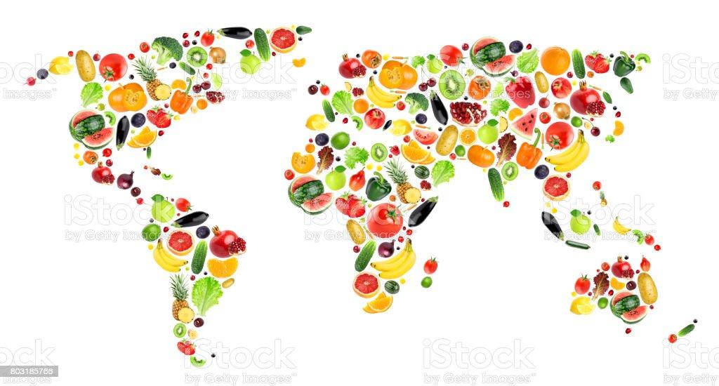 Collage aus Obst und Gemüse – Foto