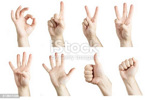 istock Collage of gestures 513641036