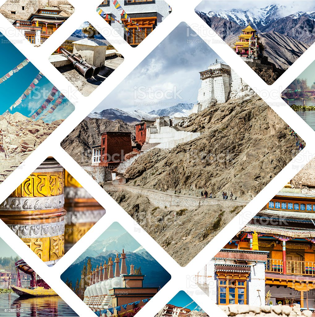 Collage of India images - travel background (my photos) stock photo