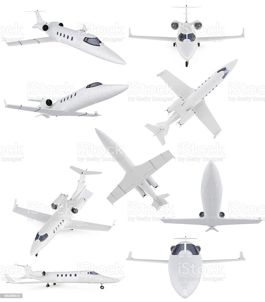 Collage of isolated commercial airplane - Royalty-free Air Vehicle Stock Photo