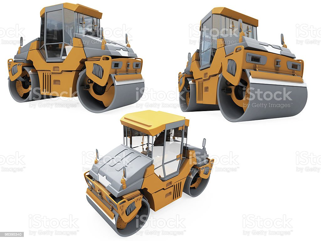 Collage of isolated construction vehicle - Royalty-free Agricultural Machinery Stock Photo