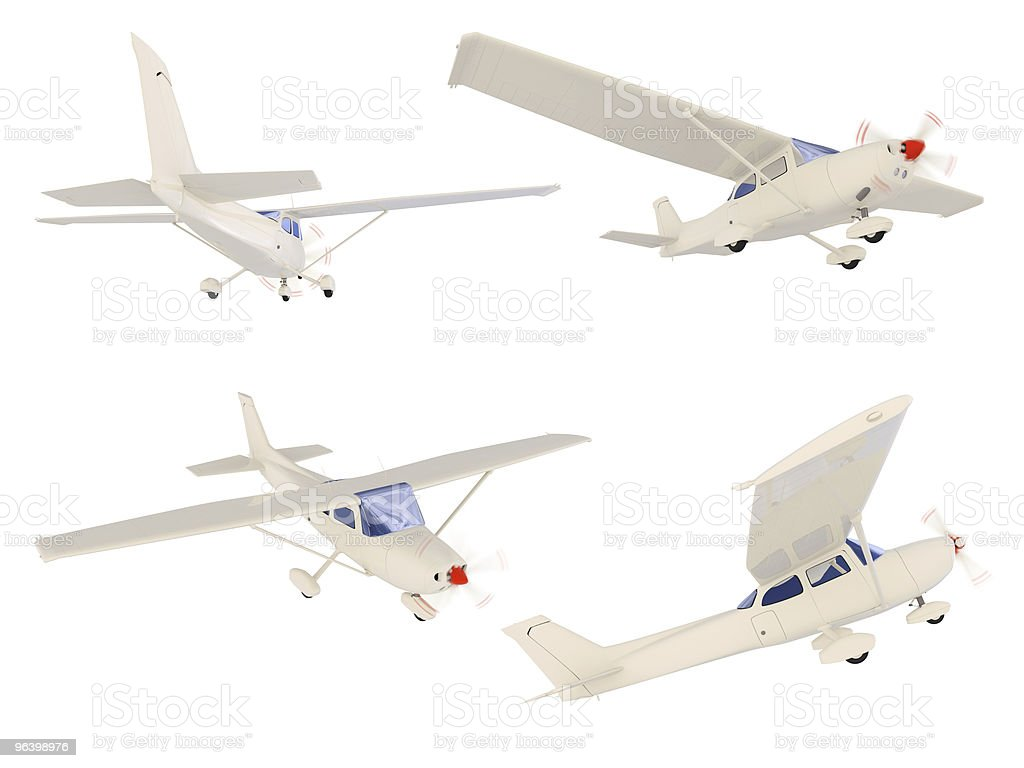 Collage of isolated small airplane - Royalty-free Air Vehicle Stock Photo