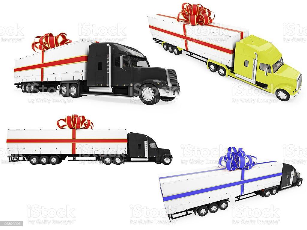 Collage of 絶縁サプライズトラック - 3Dのロイヤリティフリーストックフォト