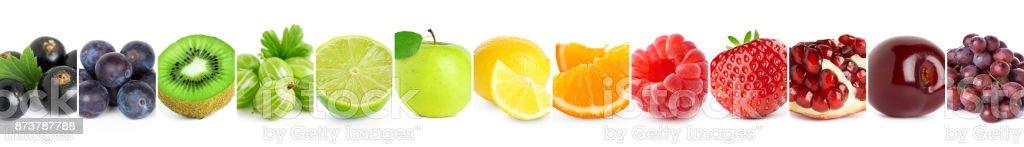 Collage der Mischfarbe Früchte – Foto