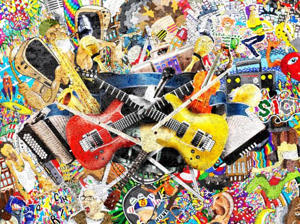 Collage von Musik – Foto