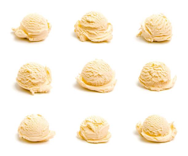 拼貼畫九不同勺霜淇淋 - 雲呢拿 個照片及圖片檔