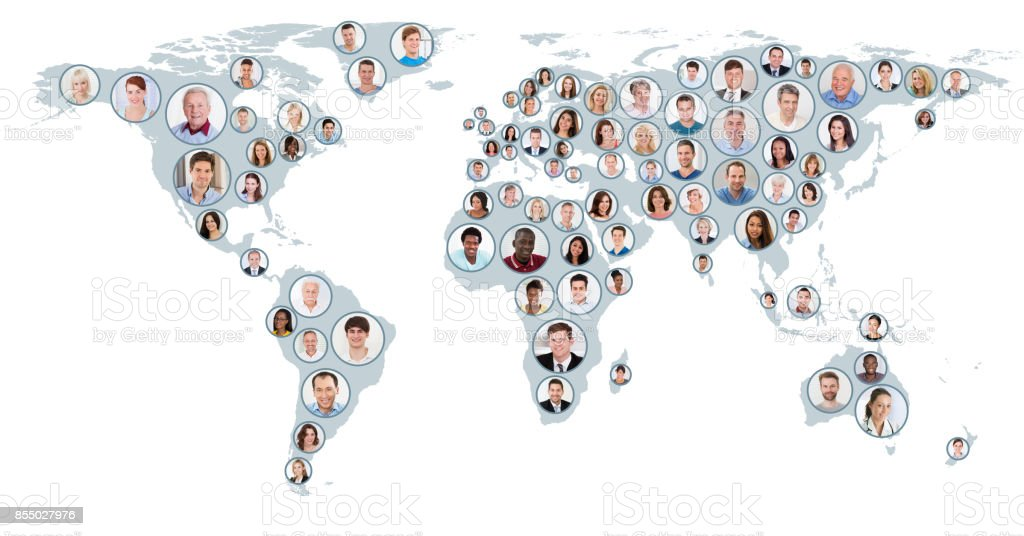 Collage of people on world map stock photo more pictures of adult collage of people on world map royalty free stock photo gumiabroncs