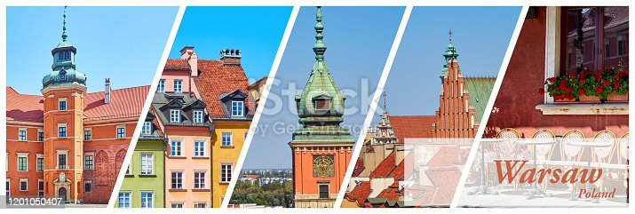 istock Collage of photos of Warsaw 1201050407