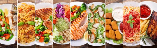 盤子裡的食物, 頂視圖 - 即食口糧 個照片及圖片檔