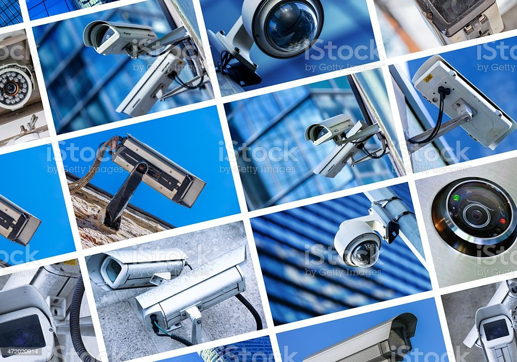 collage of security camera and urban video foto