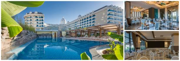 collage von sommerfrische - 5 sterne hotel türkei stock-fotos und bilder