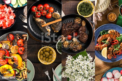 685404620istockphoto Collage of various foods cooked on the grill 690273512