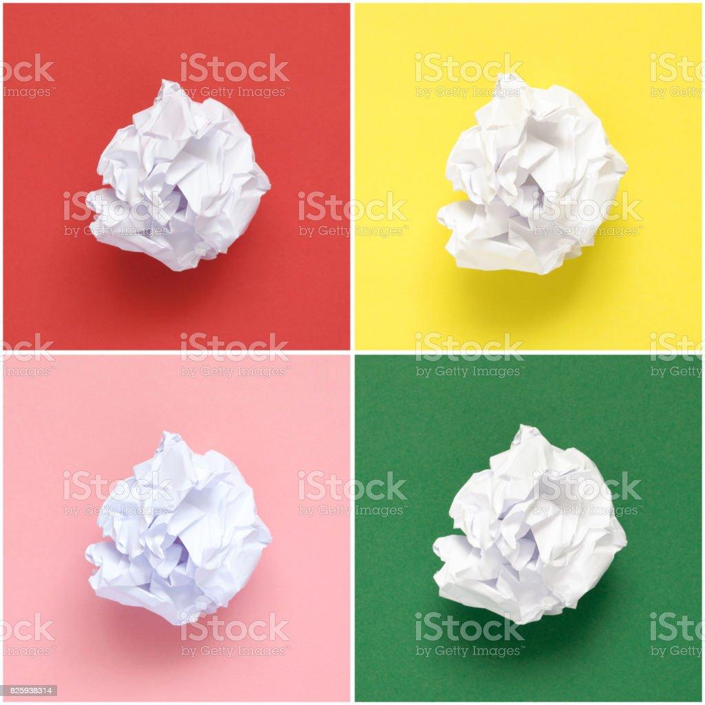 Collage de papier froissé blanc - Photo