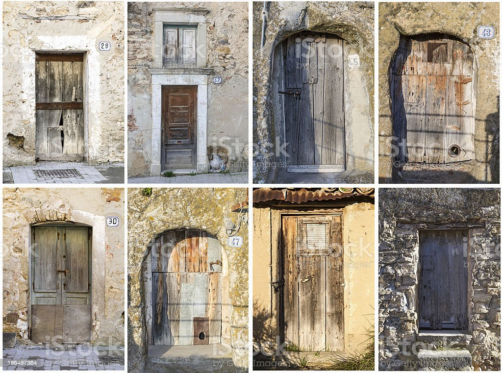 Collage Sicilian gate royalty-free stock photo