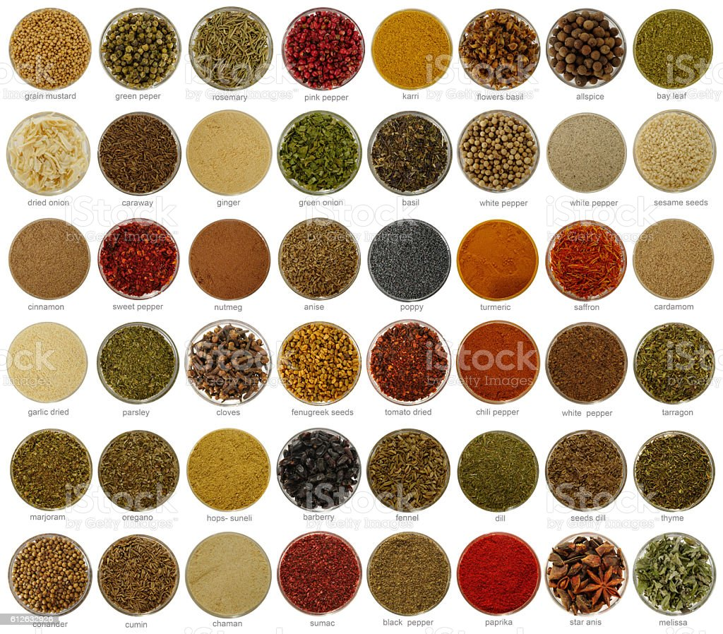 collage  spices stock photo