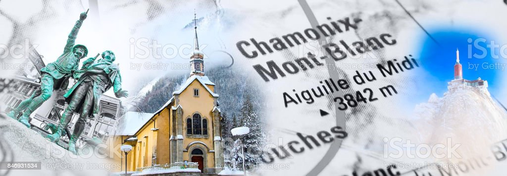 Collage de Chamonix, France landmark photos - Photo