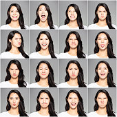 istock collage with different emotions in same young woman 1086208688