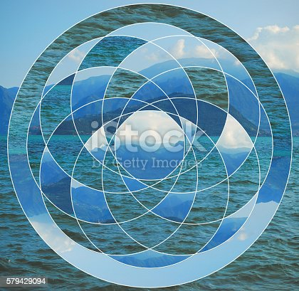 istock Collage with the lake and mountains 579429094