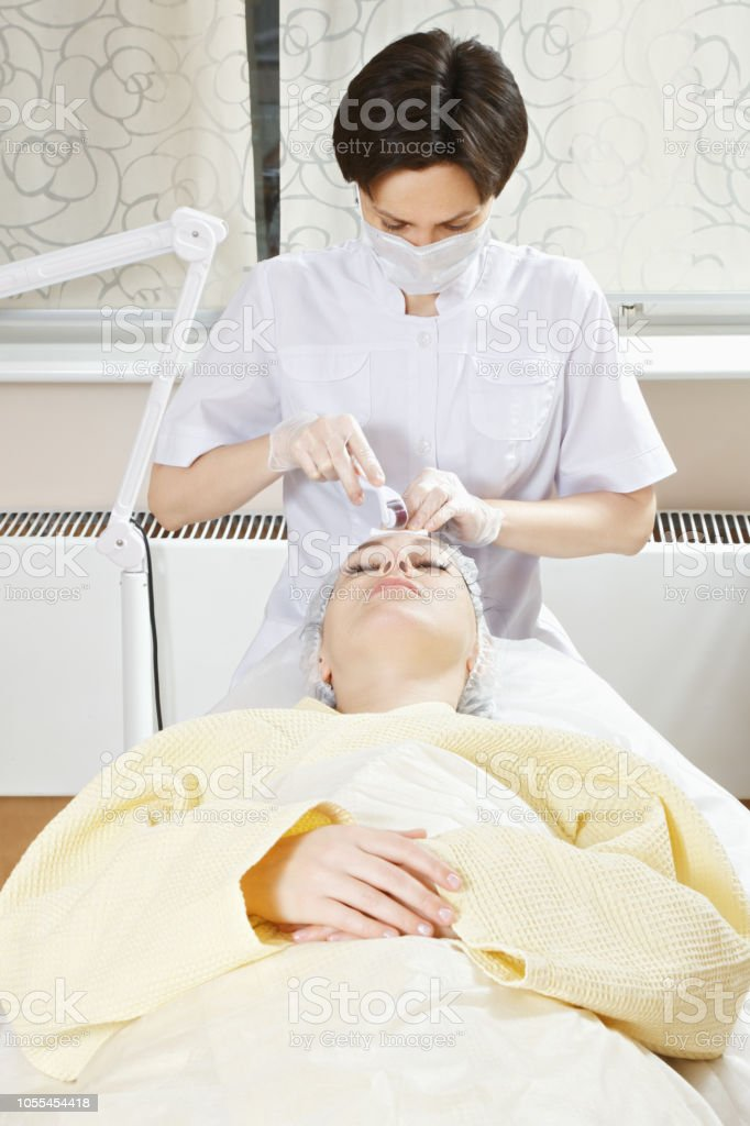 Collagen induction therapy stock photo