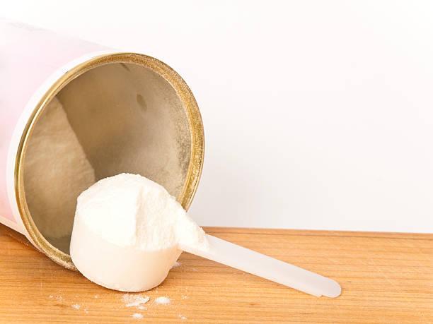 Collagen powder stock photo