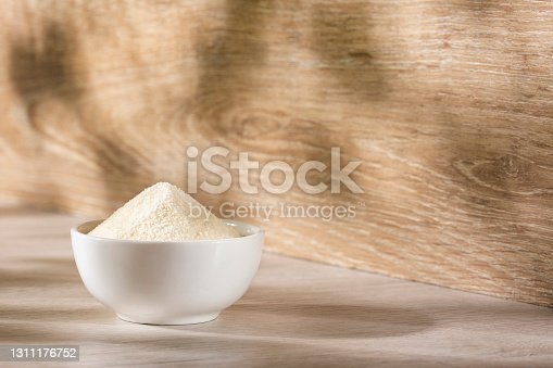 Organic gelatin powder also called hydrolyzed collagen