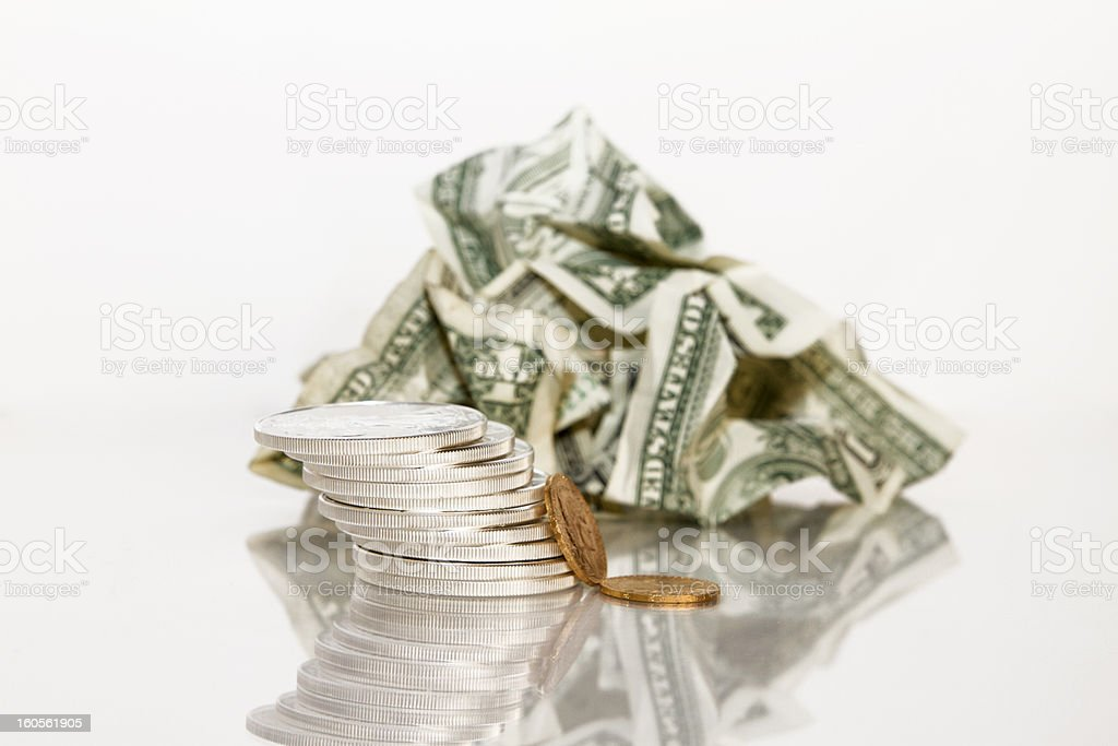 Collapse of the Dollar royalty-free stock photo