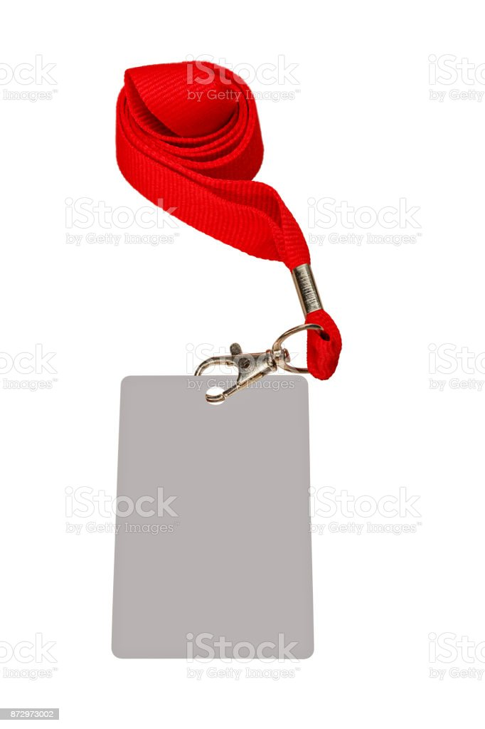 Collapsed red ribbon stock photo