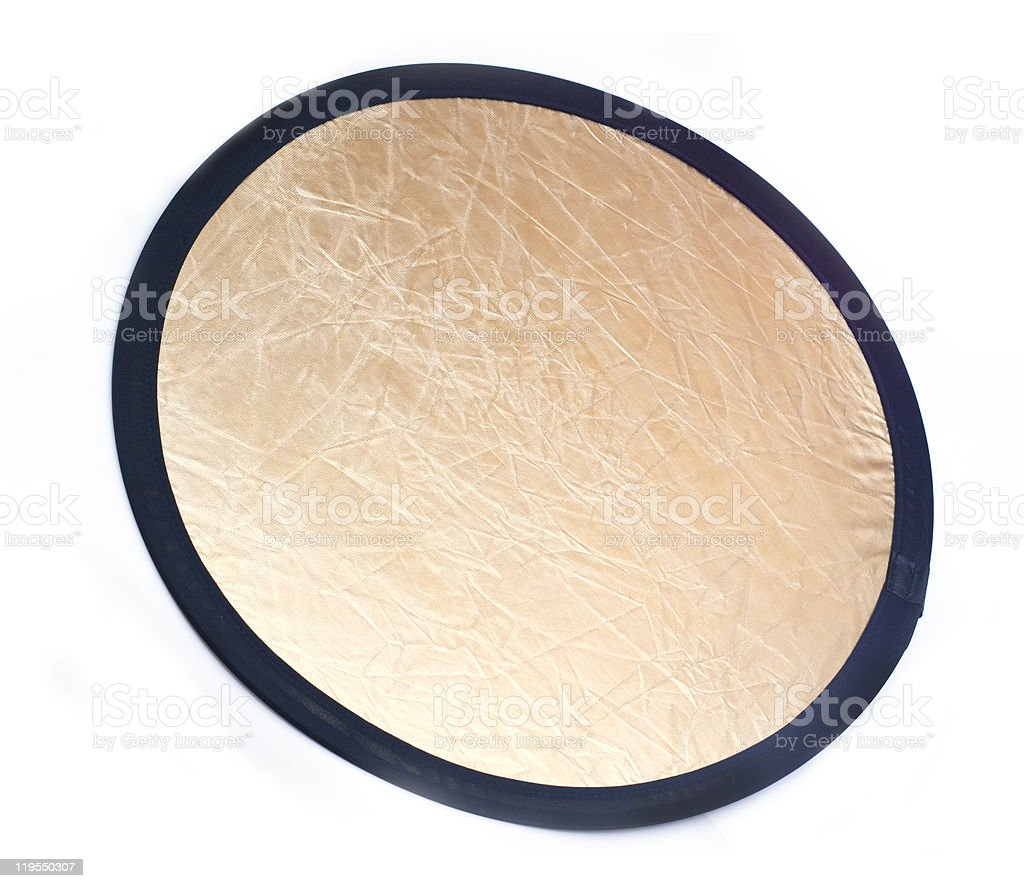 Collapsible photo reflector light disk royalty-free stock photo
