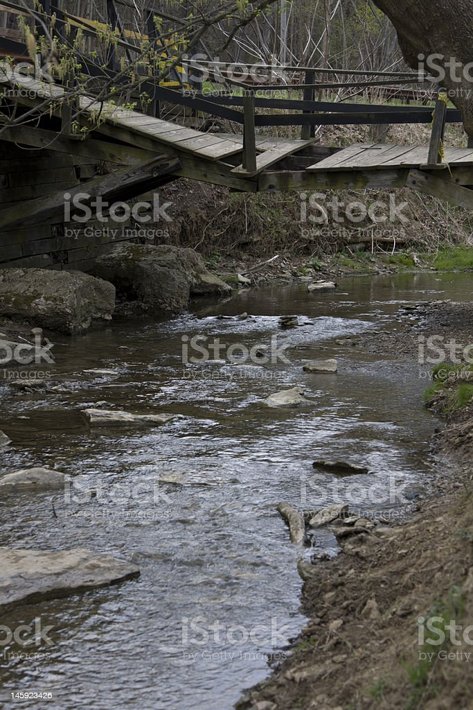 Collapsing Bridge stock photo