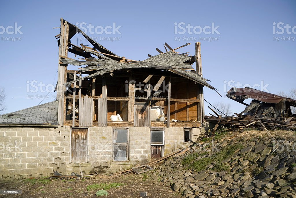 Collapsing Building royalty-free stock photo