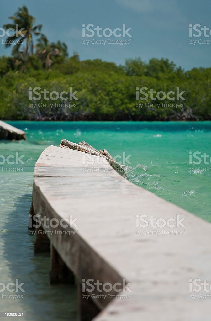 Collapsing pier royalty-free stock photo