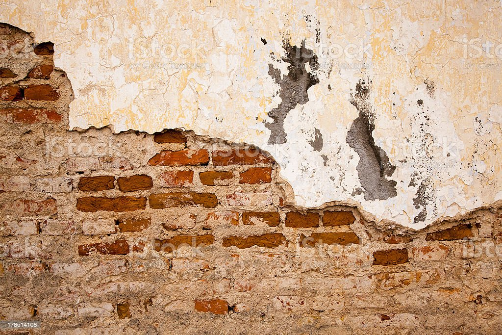 collapsing wall royalty-free stock photo