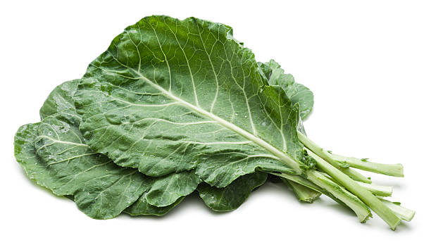 Collard greens bunch stock photo