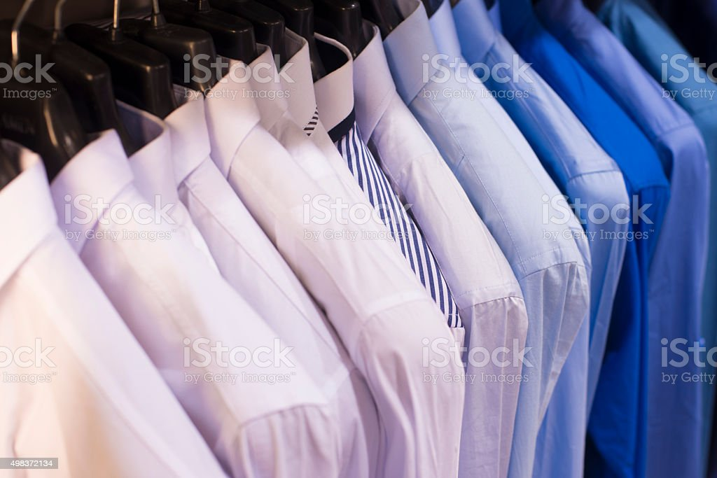 Collared shirts stock photo