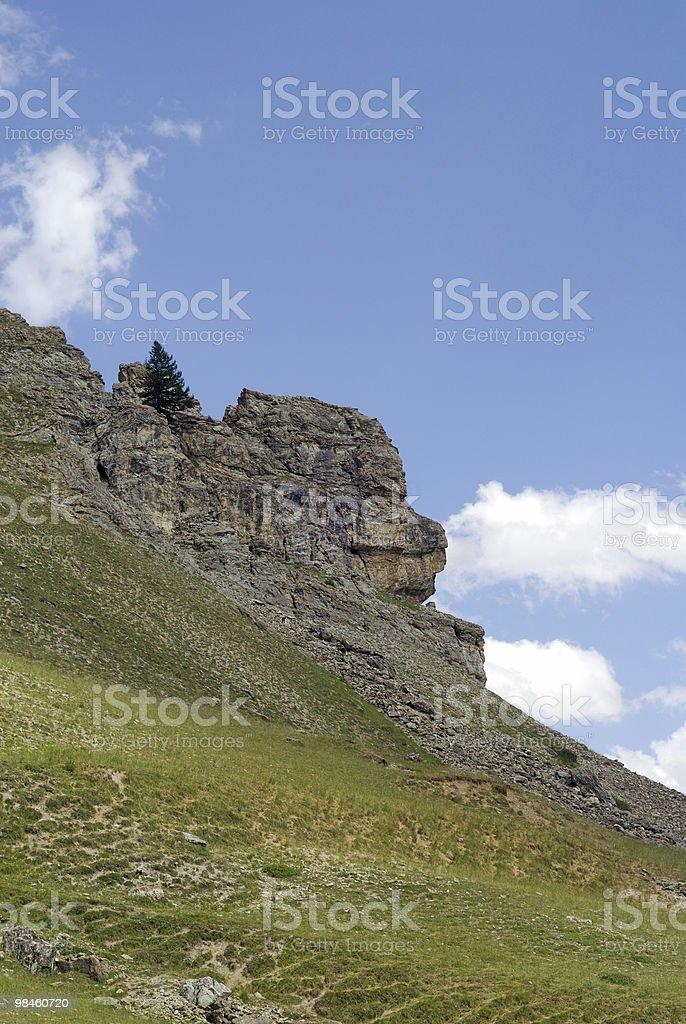 Colle della Maddalena (Col du Larche), French Alps: antropomorphic rock royalty-free stock photo