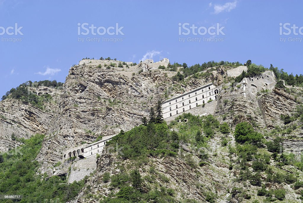 Colle della Maddalena (Col du Larche), French Alps: fortifications royalty-free stock photo